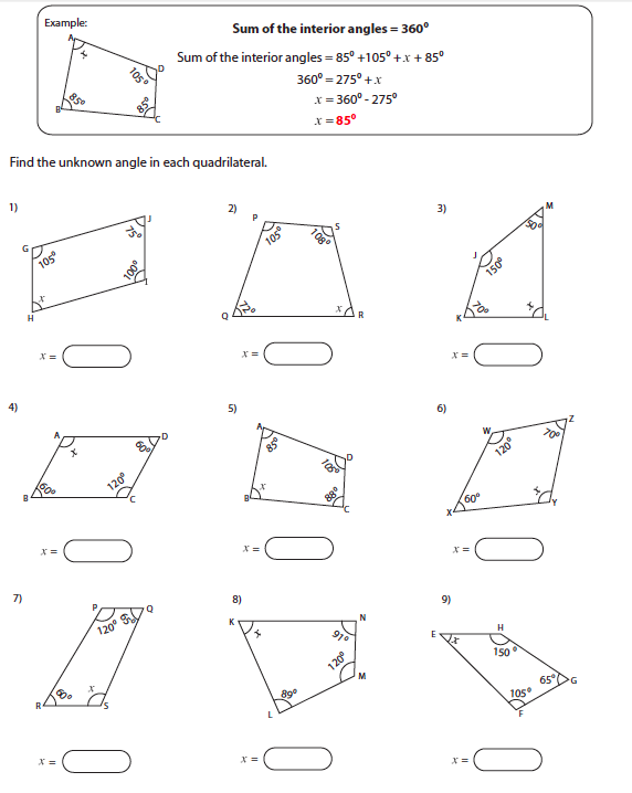 All Worksheets Finding Unknown Angles In Triangles Worksheets – Finding Missing Angles in Triangles Worksheet